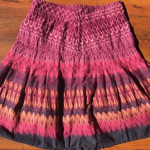H&M A line skirt, super colorful - S